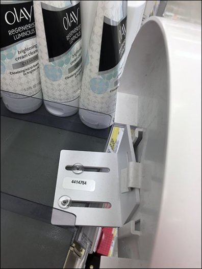 Olay Pro-X Circular Shelf Edge Sign Holder Mount 3