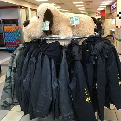 Plush Clothing Rack 2