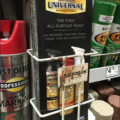 Over-Spray Rust-Oleum Literature Holder
