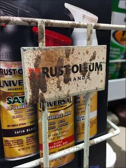 Over-Spray Rust-Oleum Literature Holder
