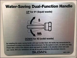 Sloan Restroom Dual Mode Toilet Flush Sign
