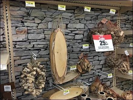 Stone Wall As Natural Pegboard Display