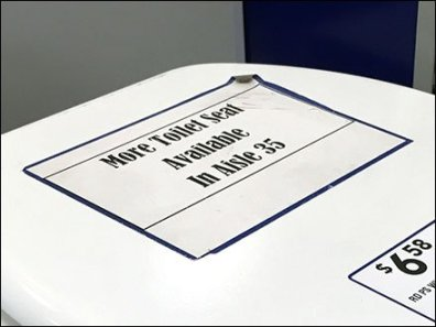 Toilet Seat Wayfinding Directional 3