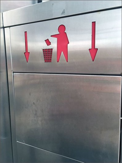 Trash Goes Down Receptical Directive 1