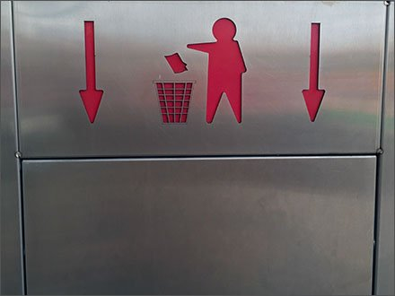 Trash Goes Down Receptical Directive Main