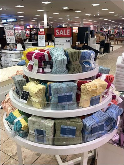 Ribboned Wash Cloth Display Carousel
