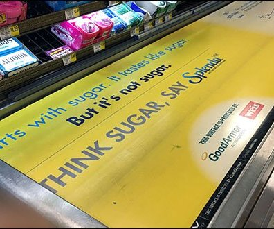 Weis Cashwrap Conveyor Advertising 2