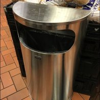 Wide Mouth Semi-Circular Waste Bin 2