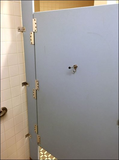 Anti-Theft Restroom Stall 1
