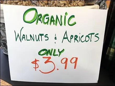 Armenian Organic Walnuts & Apricots Closeup