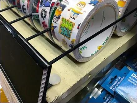 Duck Tape On-Shelf Lane Control 3