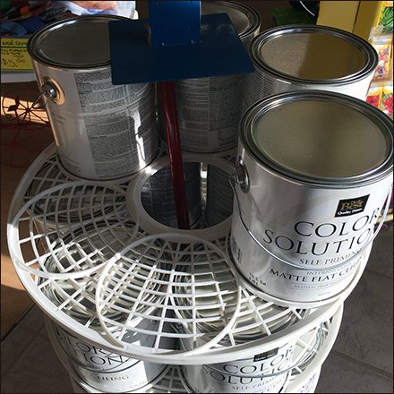 doit best brand circular stacker for paint can
