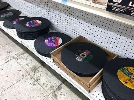 Base-Deck Merchandising for Grinding Wheels