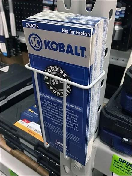 Hinged Kobalt Pallet Rack Literature Holder Main