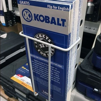 Hinged Kobalt Pallet Rack Literature Holder Main