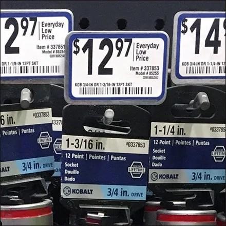 Kobalt Color Codes Confusing In-Store Tool Display