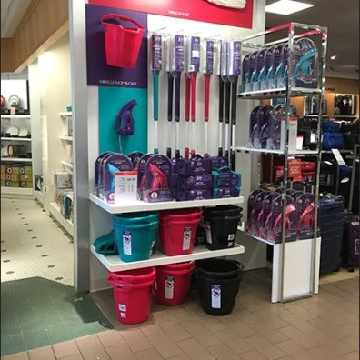 Colorful Miracle Mop Merchandising at Macys