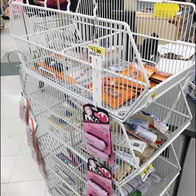 Mobile Wire Basket Tower on Casters 2
