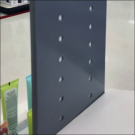 Natural Beauty Perforated Sign Holder CloseUp