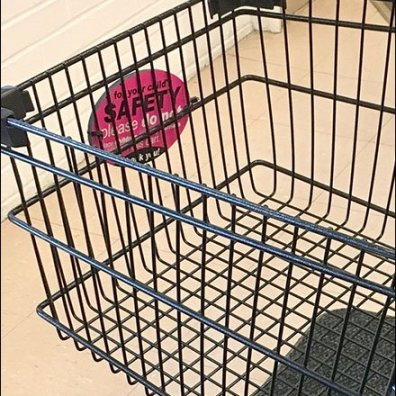 Shopping Cart Child Safety Warning 3