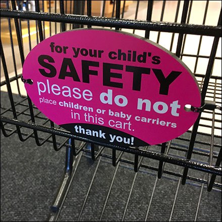 Shopping Cart Child Safety Warning Main Front