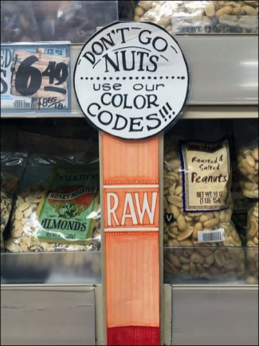 Trader Joes Nut Color Code 1