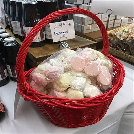 Armenian Meringue Cookies Red Wicker Basket Feature