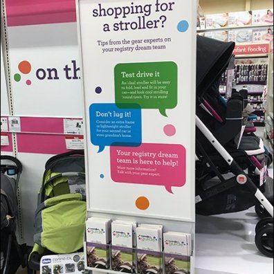 Stroller Shopping Literature Holder