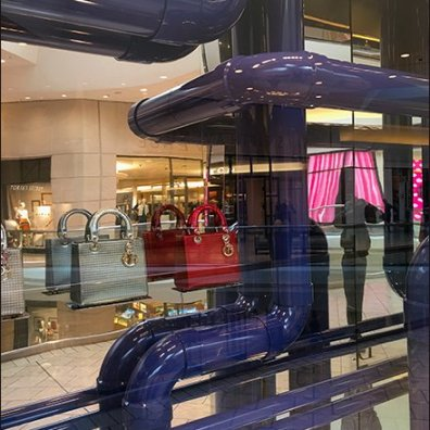 Dior Window Dressing Pipe Dreams in Purple PVC
