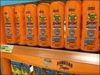 Hawaiian Tropic Banana Boat Display Label Strip 1