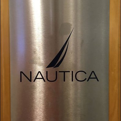 Nautica Brilliantly-Branded in Polished Stainless Steel