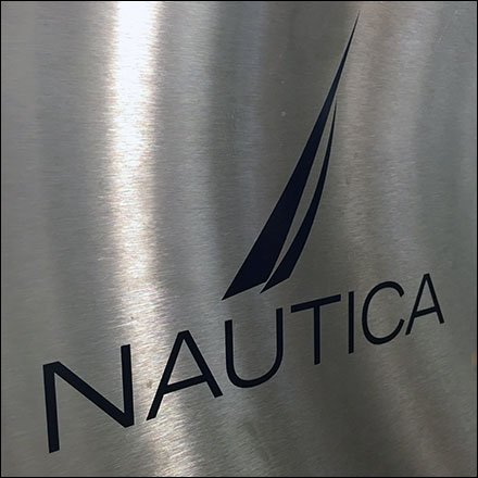 Nautical Branded on Stainless Steel Feature