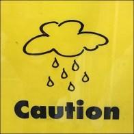 When-It-Rains-It-Pours Wet Floor Warning Shovel-Base Sign