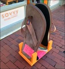 Rainbow Sandals Street-Side Display At Laguna Beach
