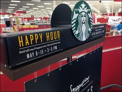 StarBucks Happy Hour Paper Clip Hang 1
