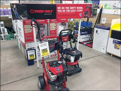 Troy-Bilt Power Washer Sign Stands 2