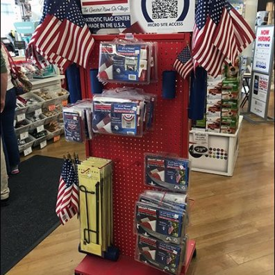 Valley Forge FreeStanding Flag Merchandiser 1