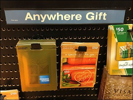 Anywhere Gift Cards Front