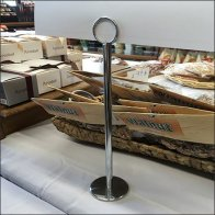 Arenie Chrome Tall Coil Clip Sign Stand Feature