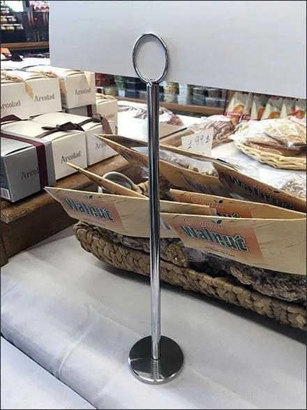 Arenie Chrome Tall Coil Clip Sign Stand Main