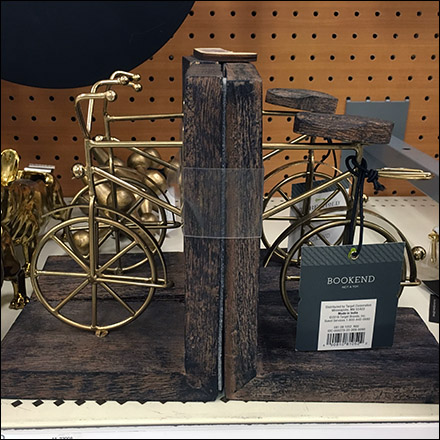 Bicycle Book Ends Square