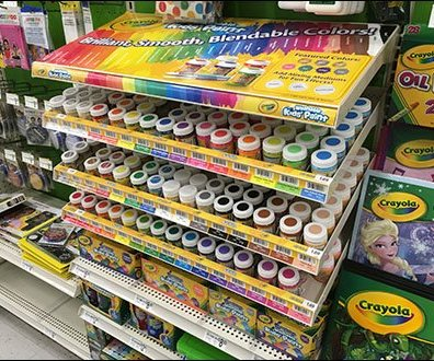 Crayola Color Coded Gravity Feed Display 1