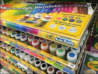 Crayola Color Coded Gravity Feed Display 2