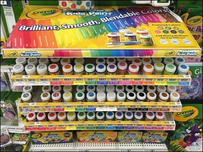 Crayola Color Coded Gravity Feed Display 4