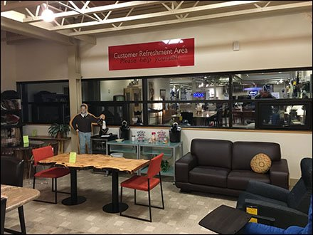 Dane Decor Customer Refreshment Area 1