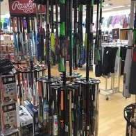 Branded Baseball Bat Merchandiser by Easton