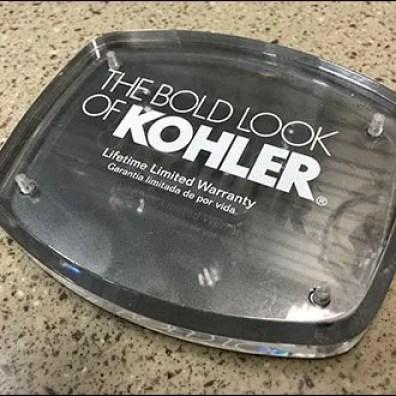 Kohler Slatwall Logo Plaque 1