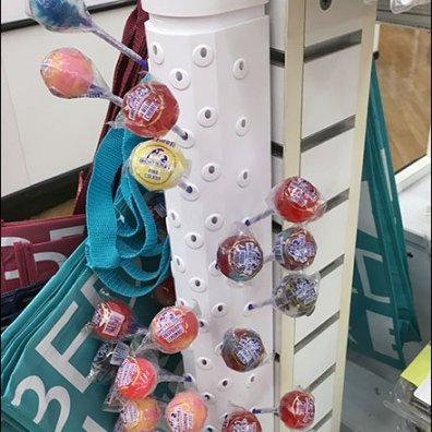 Lindas Lollies Plastic Slatwall Lollipop Display 1