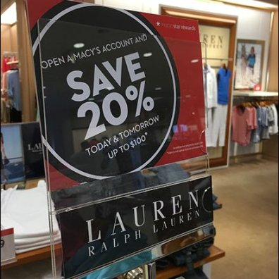 Ralph Lauren Branded Sale Sign Holders 3