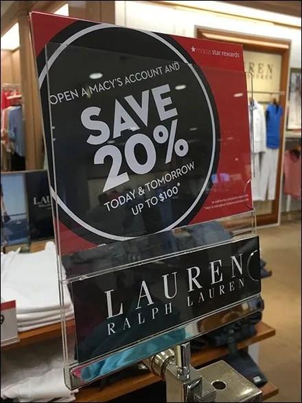 Ralph Lauren Branded Sale Sign Holders Main